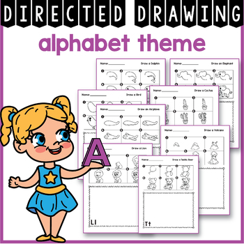 Alphabet Directed Drawing and Alphabet Tracing Cards