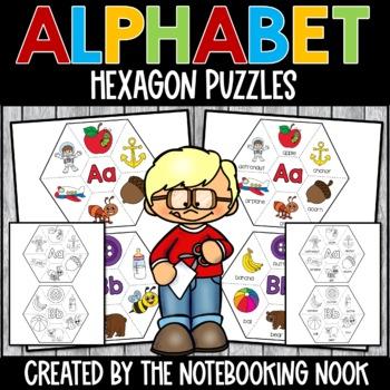 Alphabet Hexagon Puzzles