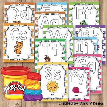 Alphabet Letters - Alphabet Playdough Mats