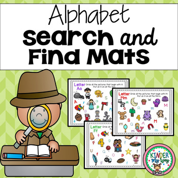 Alphabet Practice - Search and Find Mats
