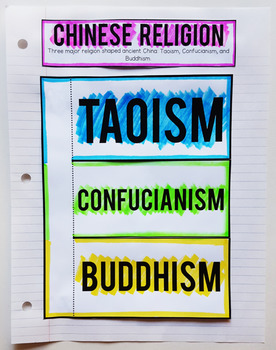 Ancient China Interactive Notebook and Graphic Organizers