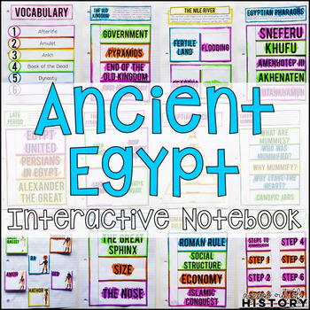 Ancient Egypt Interactive Notebook and Graphic Organizers
