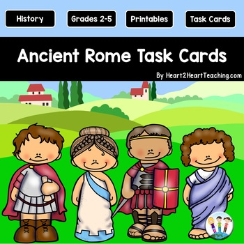 *50% Off* Ancient Rome Task Cards {Set of 32 Cards & 6 Vocabulary Cards}