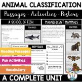 Animal Classification Unit: Mammals, Birds, Fish, Reptiles, Amphibians