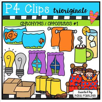 Antonyms / Opposites #1 (P4 Clips Trioriginals Digital Clip Art)