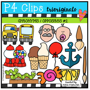 Antonyms / Opposites #2 (P4 Clips Trioriginals Digital Clip Art)