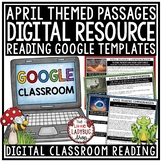 April Digital Reading Comprehension Passages and Questions