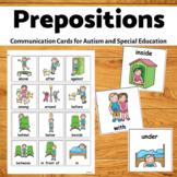 Autism Communication Cards- Prepositions