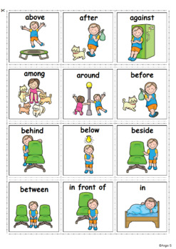 Prepositions Autism Communication Cards By Angie S Tpt