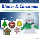 Winter Matching File Folders for Autism