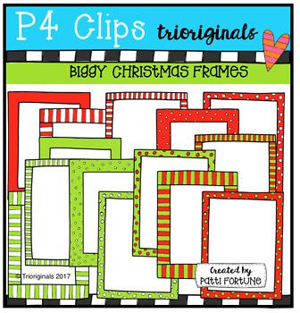 BIGGY Christmas Frames (P4 Clips Trioriginals Clip Art)