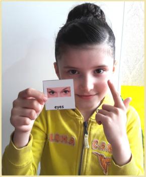 Body Parts Vocabulary Photo Cards for Autism, ESL