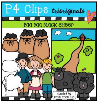 Baa Baa Black Sheep (P4 Clips Trioriginals Clip Art)