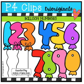 Balloon Numbers (P4 Clips Trioriginals Clip Art)