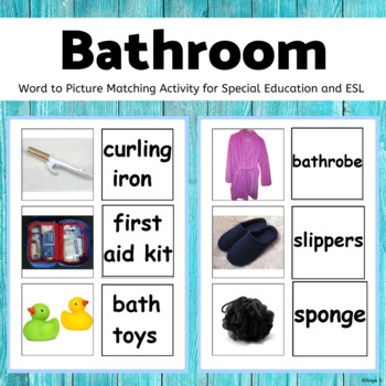 Bathroom Word to Picture Matching Activity