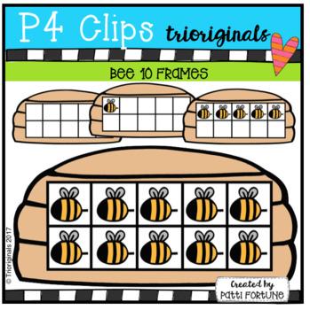 Bee 10 Frames (P4 Clips Trioriginals Clip Art)