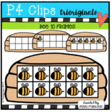 Bee 10 Frames (P4 Clips Trioriginals Clip Art)