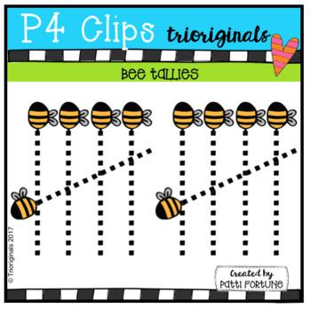 Bee Tallies (P4 Clips Trioriginals Clip Art)