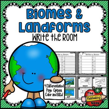 Biomes and Landforms Write the Room