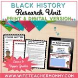 Black History Research Project Unit PRINTABLE + GOOGLE SLI