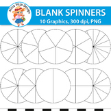 Blank Spinners - Fraction Circles Clipart