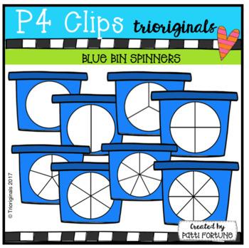 Blue Bin Spinners (P4 Clips Trioriginals Clip Art)