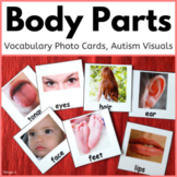 Body Parts Cards for Autism, Pecs
