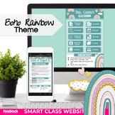 Boho Rainbow Parent Communication Google Slides Template  