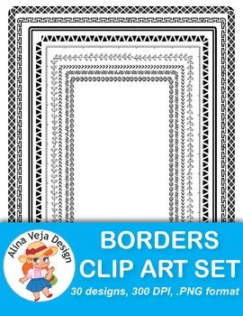 Borders Clip Art Set 2