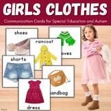Clothing Unit, Girls Clothes Flashcards, Pecs
