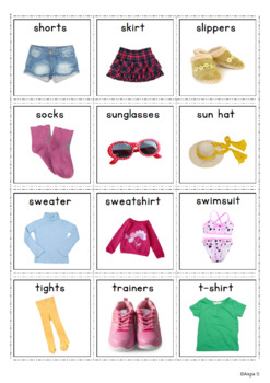 Clothing Unit Girls Clothes Flashcards Pecs By Angie S Tpt
