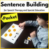 Building Sentences BUNDLE for Speech Therapy and Special Ed