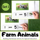 Farm Animals Activity - Building Sentences