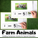 Farm Animals Activity - Building Sentences