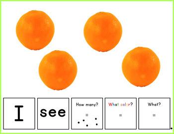 Build a Sentence- Fruits & Berries, Autism Activity