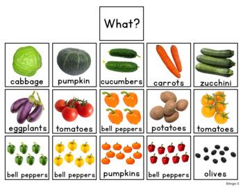 Vegetables Activity - Building Sentences