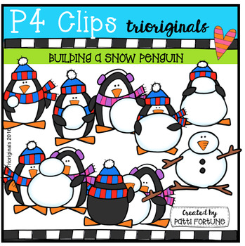 Building a Snow Penguin ( P4 Clips Trioriginals Digital Clip Art)