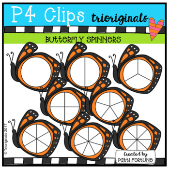 Butterfly Spinners (P4 Clips Trioriginals Clip Art)