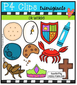 CR Words (P4 Clips Trioriginals Digital Clip Art)