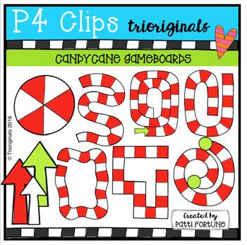 Candy Cane Game Boards (P4 Clips Trioriginals)