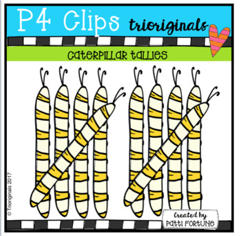 Caterpillar Tallies (P4 Clips Trioriginals Clip Art)