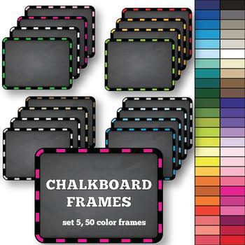 Chalkboard Frames set 5