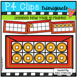 Chinese New Year 10 Frames (P4 Clips Triorignials Clip Art)