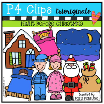 Christmas Eve Night (P4 Clips Trioriginals Clip Art)