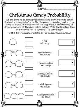 Christmas Gumdrop Math Activities & More for 3rd, 4th, 5th Grade