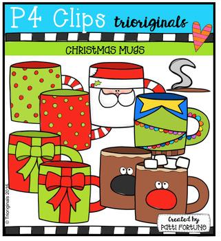 Christmas Mugs (P4 Clips Trioriginals Digital Clip Art)