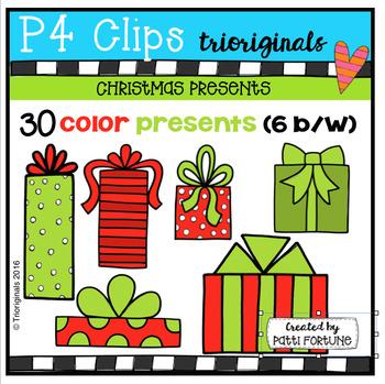Christmas Presents (P4 Clips Trioriginals Digital Clip Art)