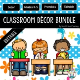 Blue, Pink, and Orange Flowers Classroom Decor Pack #10