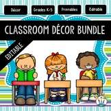 Turquoise, Lime Green, Purple Striped Classroom Decor Pack #13