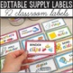 #Californiadreaming Classroom Supply Labels with Pictures